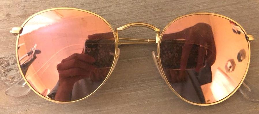 Ray-Ban Metal Circular Pink Sunnies