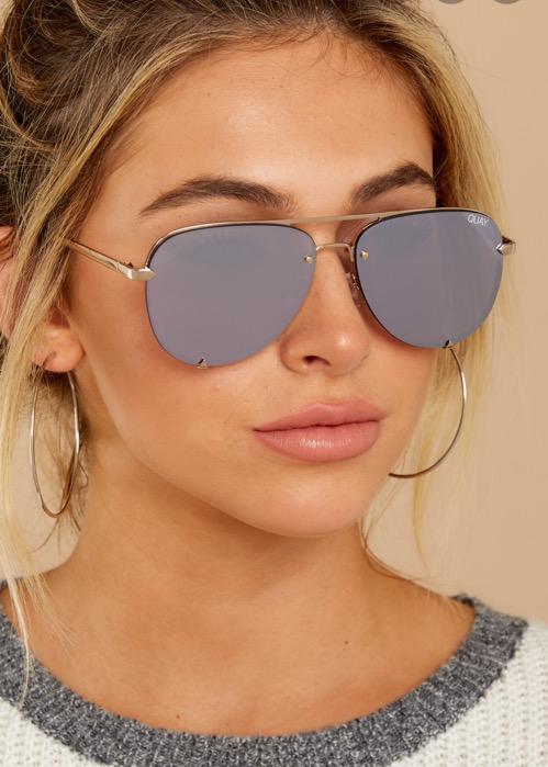 Quay Australia High Key Rimless Sunglasses