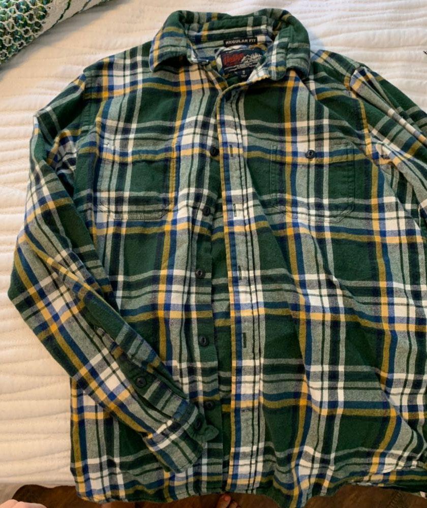 L.L.Bean Green Vintage Flannel