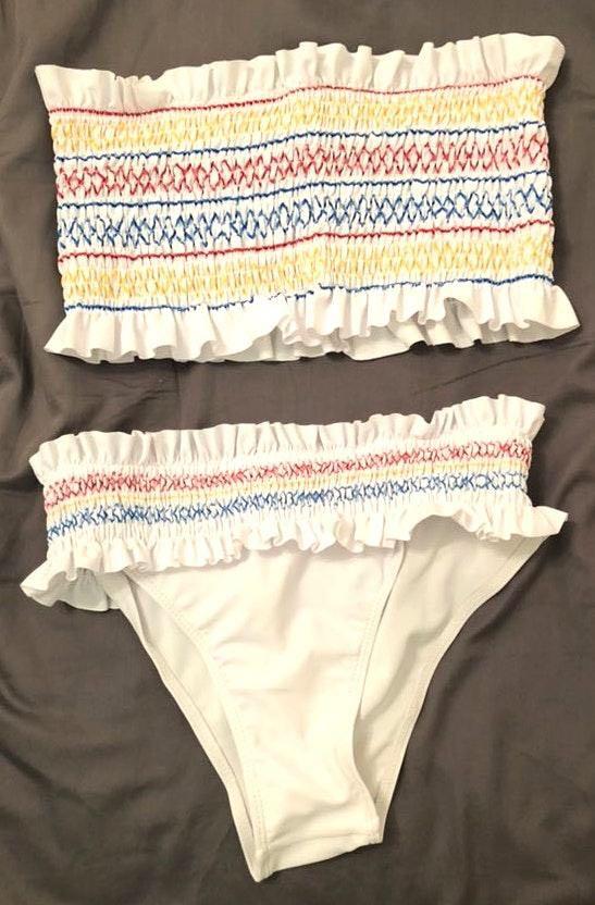 SheIn Multi Color Strapless Bikini