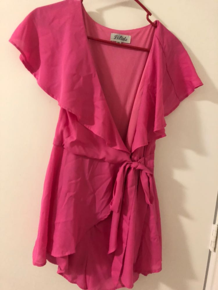 Listicle Pink Romper