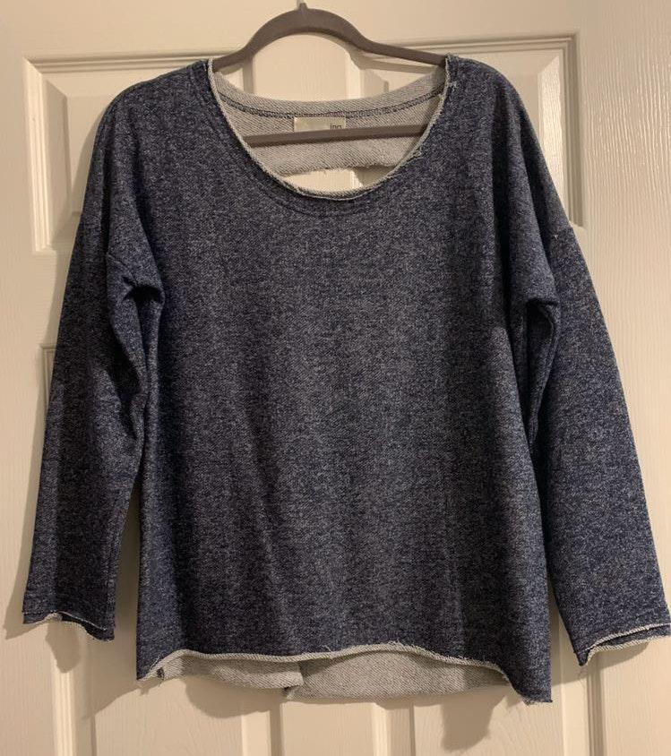 INA Distressed-back  Sweatshirt style top