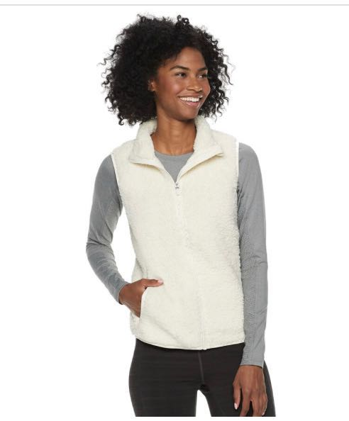 FILA 🆕 NWT  Sport Vest Sherpa Cozy Cream Colored