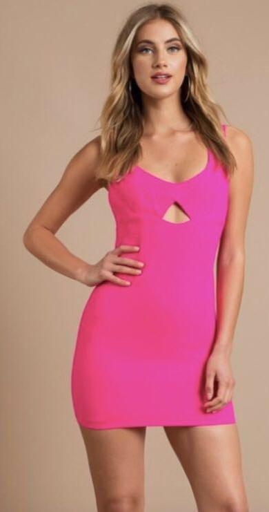 Tobi Hot Pink Cocktail Dress