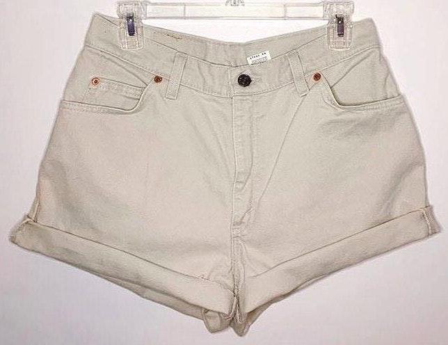 Levi's High Waisted Khaki Levi Shorts
