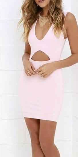 Lulus Pink cut out dress