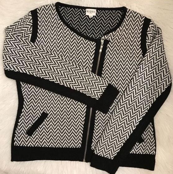 Sioni studio petite Large cross zipper jacket