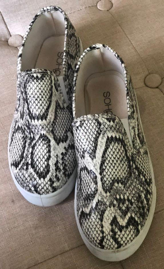 Boutique Snakeskin Slip On Shoes