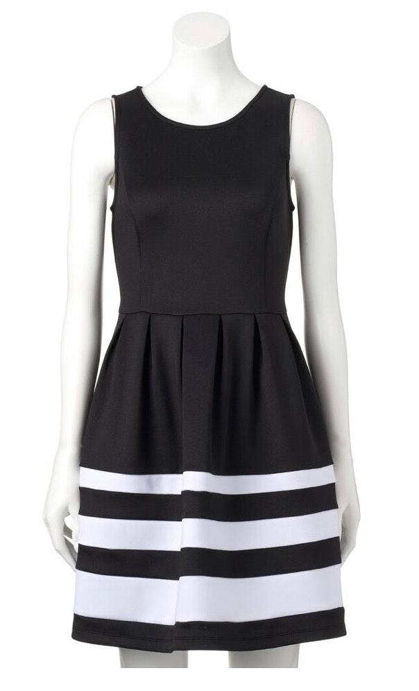 Apt. 9 Black And White Striped Dress