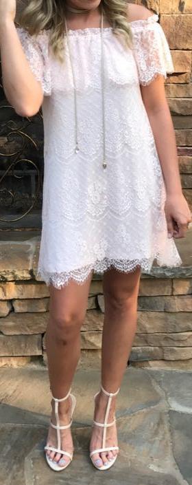 As U Wish Comfortable Lace dress