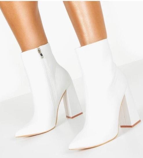 Boohoo White Booties
