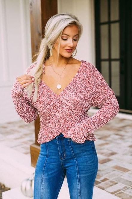 These Three Boutique Cropped Sweater