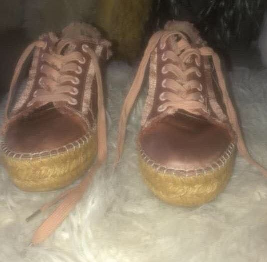 Steve Madden Rose Gold Espadrille Tennis Shoes