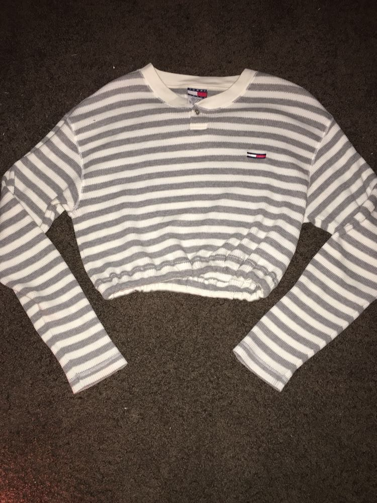 Tommy Hilfiger cropped elastic waist sweater