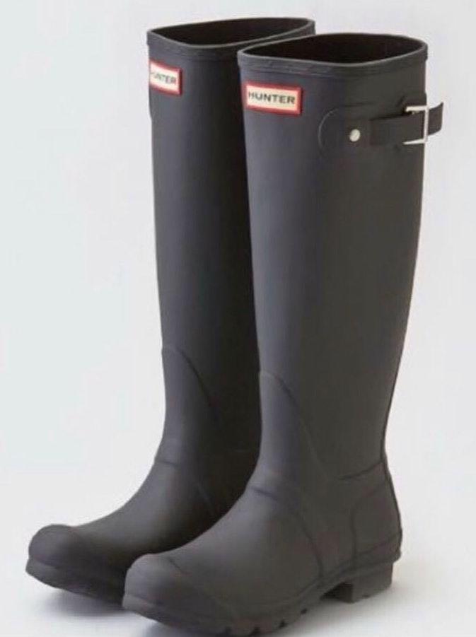 Hunter Size 8 Matte  Boots