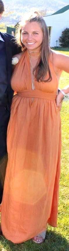 Sabo Skirt Burnt Orange Long Formal Dress