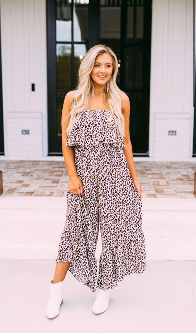 These Three Boutique Cheetah Print Jumpsuit