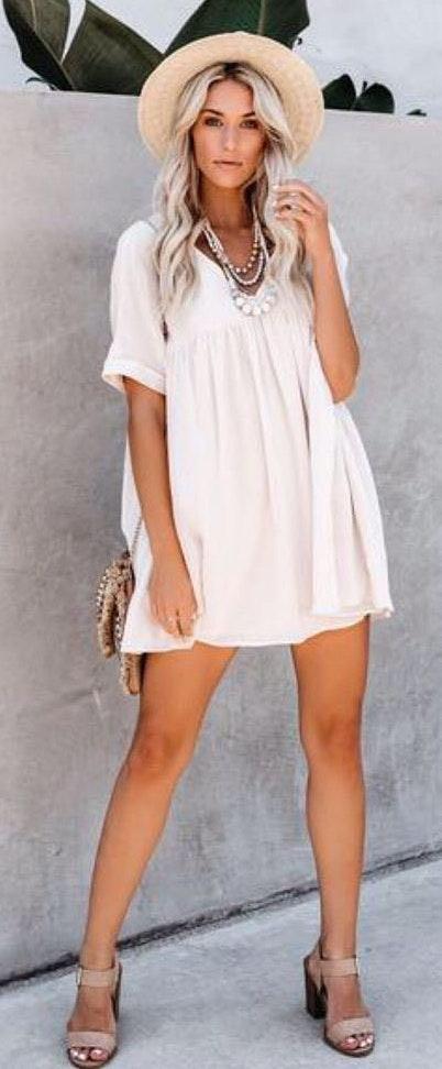 Natural Babydoll Dress Tunic