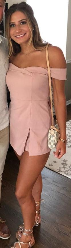 These Three Boutique Light Pink Romper