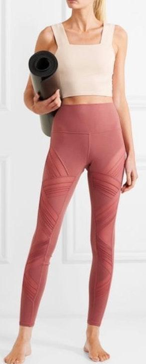 Alo Yoga Mesh Paned Leggings