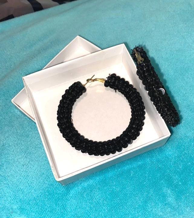 Lulus Black Hoop Earrings