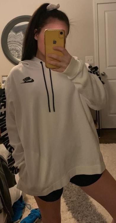 Nike White Hoodie