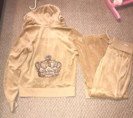 Juicy Couture Gold Tracksuit Curtsy