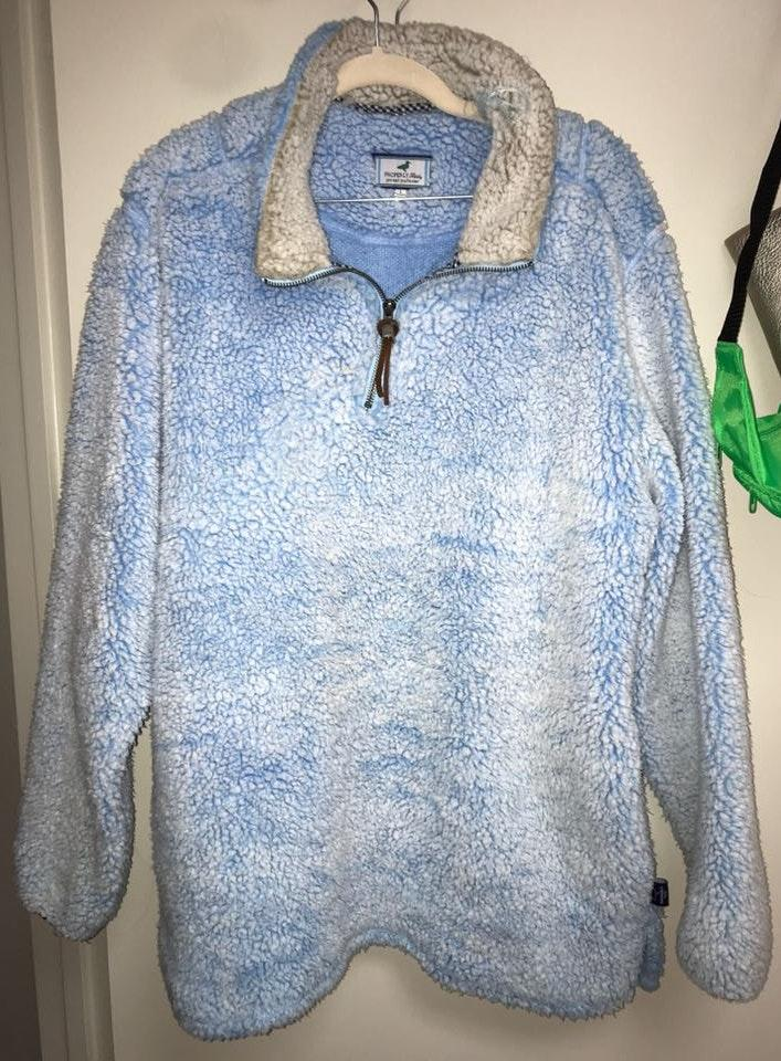 Properly Tied Pintail Blue Sherpa Pullover