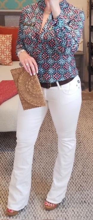 Rock & Republic Kasandra Flare Leg White Jeans
