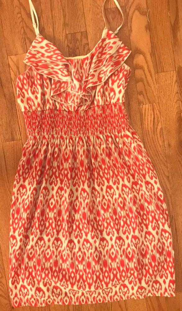 Body Central Burnt Orange Animal Print Dress