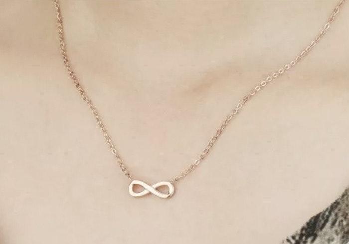 10k Gf Infinity Love Necklace Curtsy
