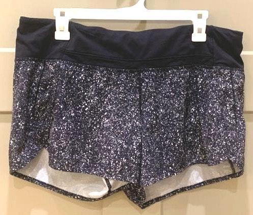 Lululemon Black and White Speed Shorts
