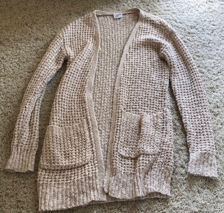 Tan Knit Cardigan