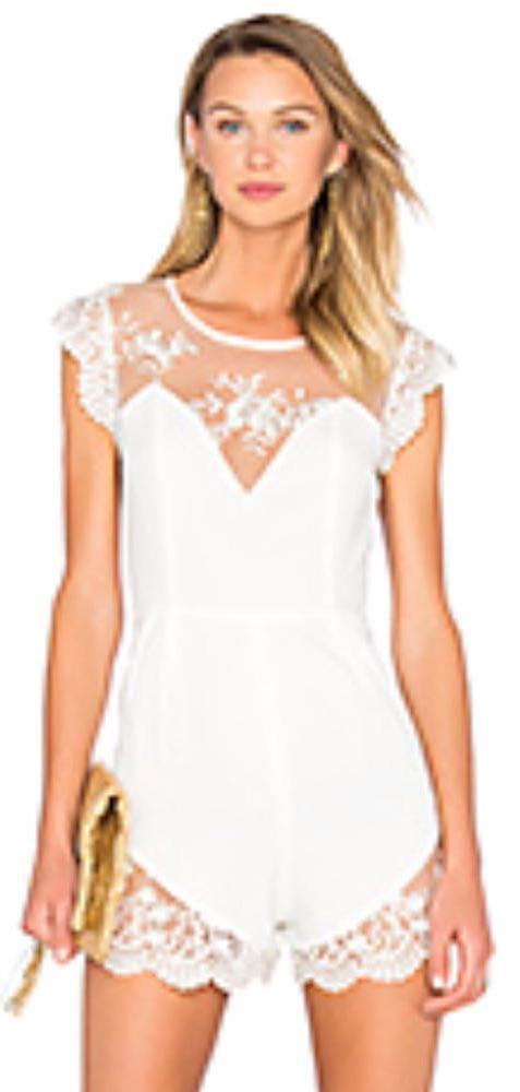 NBD White  Lace Romper