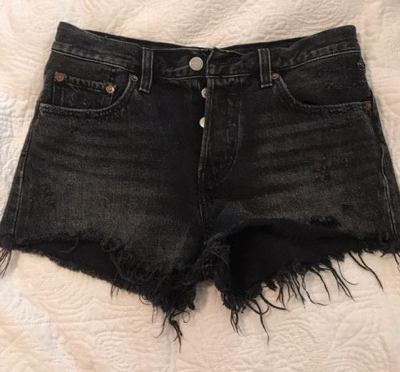 Levi's Black Denim Levi Shorts