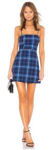 by the way. Plaid Mini Dress