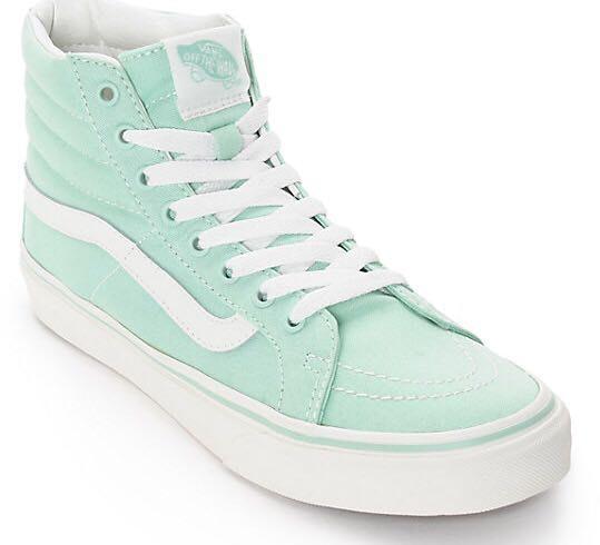 mint green vans high tops \u003e Clearance shop