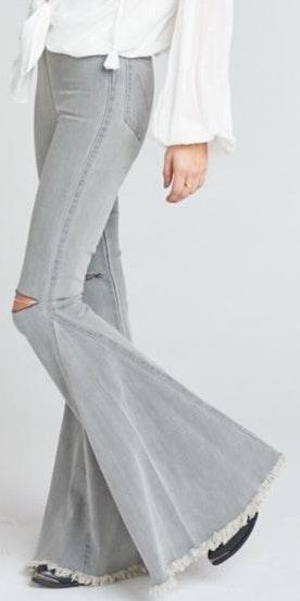 Show Me Your Mumu Grey Berkeley Jeans