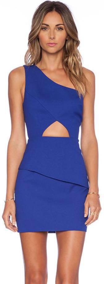 NBD Blue Cutout Dress