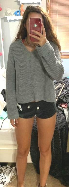 Moon & Madison Gray Sweater