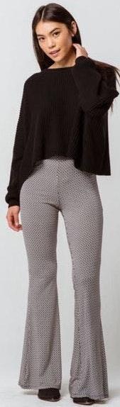 Geo Print Flare Pants