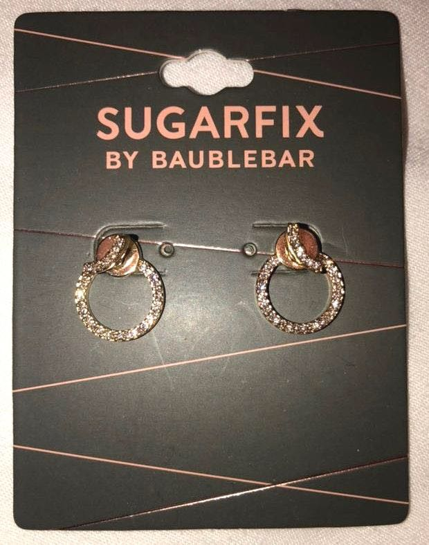 BaubleBar NWT  Diamond Circle Earrings