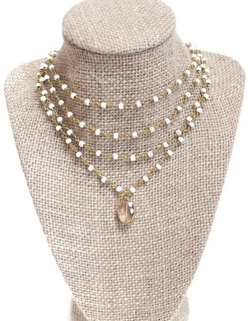 Beaded by Meg Quadruple Layered Howlite Necklace