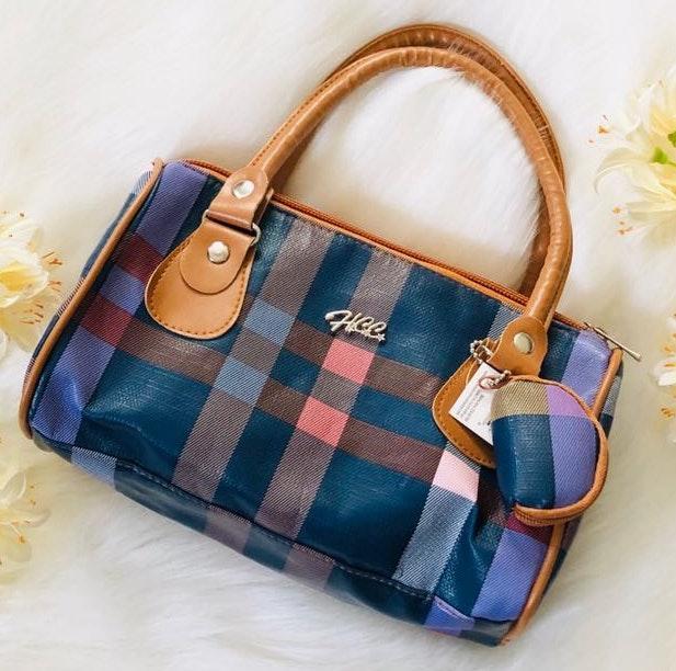 NWT Blue Plaid mini fashion purse bag