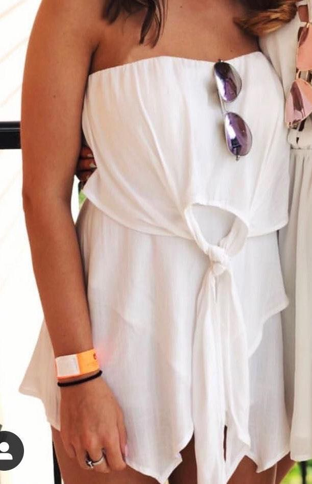 American Threads Lilac Strapless Romper