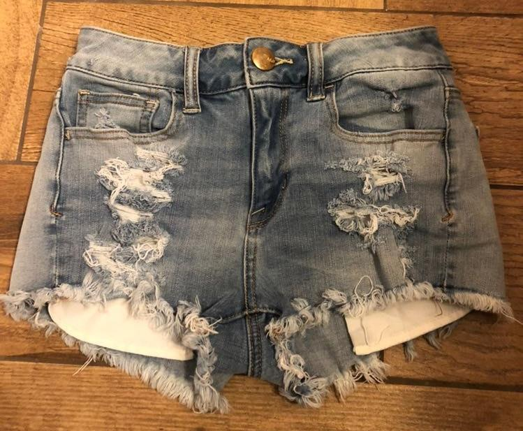American Eagle Outfitters American Eagle Hi-Rise Shortie Shorts