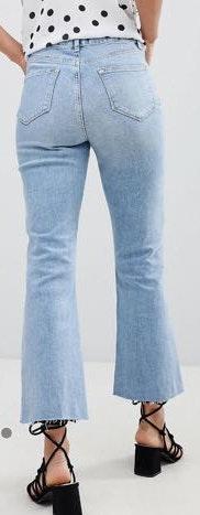 Miss Selfridge Crop Flare Jeans