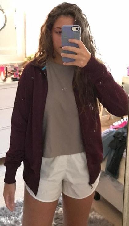 Nike maroon dry fit zip up jacket