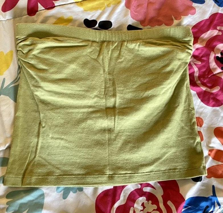 Zenana Outfitters Lime Green Tube Top Curtsy