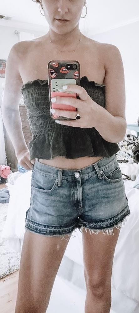 Rag & Bone Low Waisted Denim Shorts